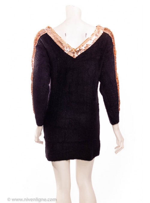 Robe COLUMBA pull sequins...