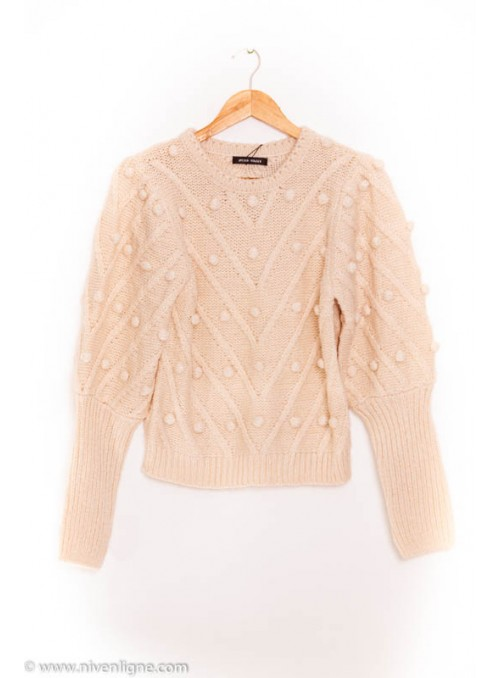 Pull CENON maille boule *9967