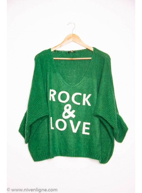Pull ROCK grosse maille *2257