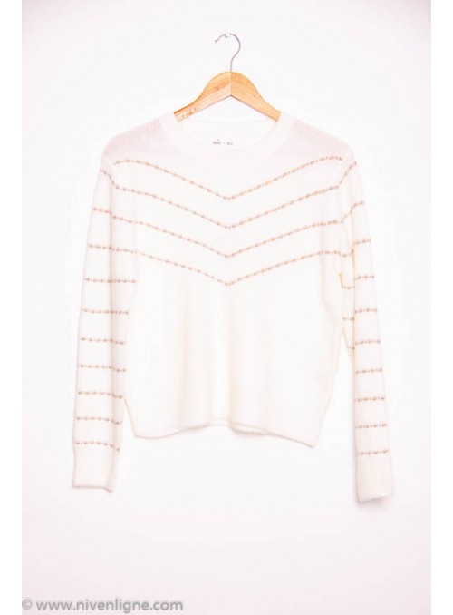 Pull INDIE+MOI rayure lurex...