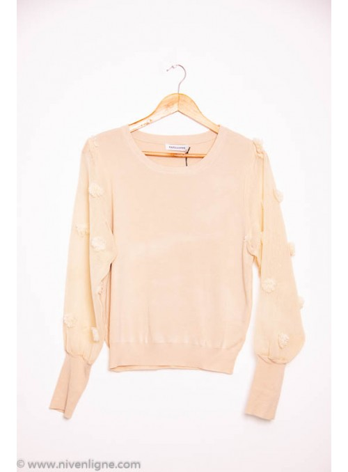 Pull IMAN manche broderie *246