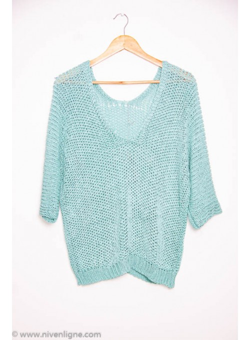 Pull LEONIE maille col v *2038