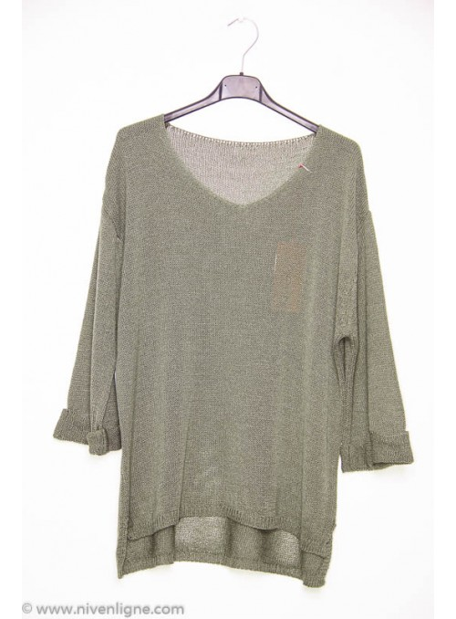 Pull CLOTHILDE revers manche