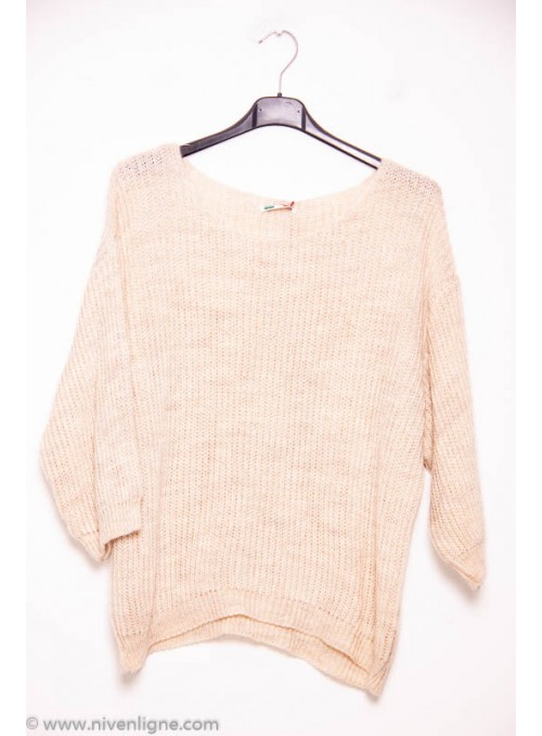 Pull ELODIA uni col rond