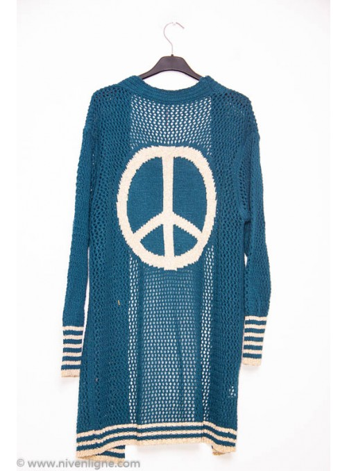 Gilet PEACE maille filet
