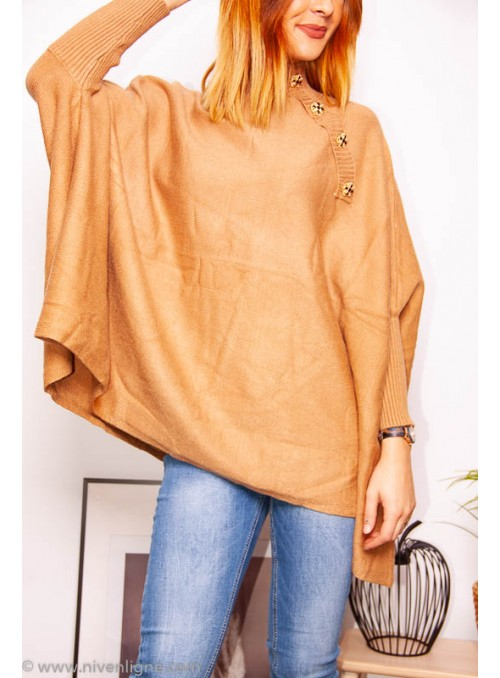 Pull AVEN ample bouton strass