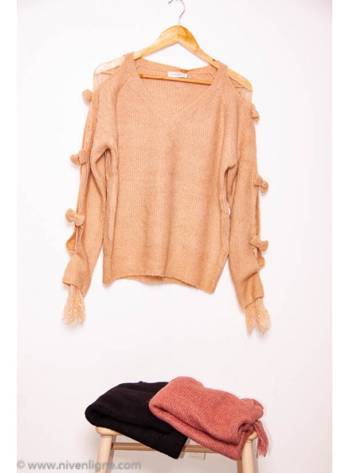 Pull TIMOTE manches dentelle
