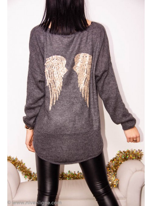 Pull AGATHE ailes dos sequin