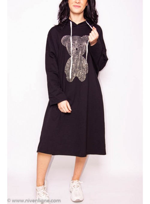 Robe NOUNOURS pull strass